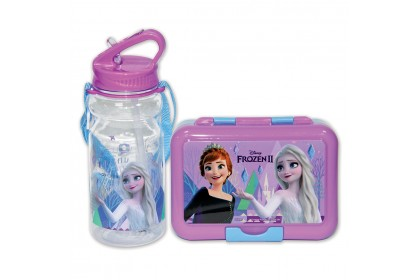 Disney Frozen 2 Lunch Box With Bottle With Straw Set
