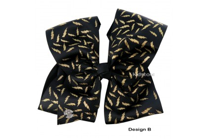 JOJO SIWA BOW WITH CLIP (GOLDEN BOLTS)