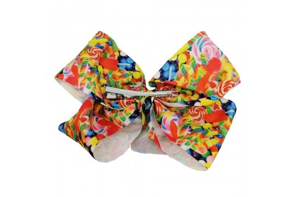 JOJO SIWA BOW WITH CLIP (CANDY LOLLIPOP)