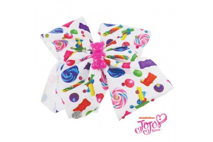 JOJO SIWA BOW WITH CLIP (GUMMY LOLLIPOP)
