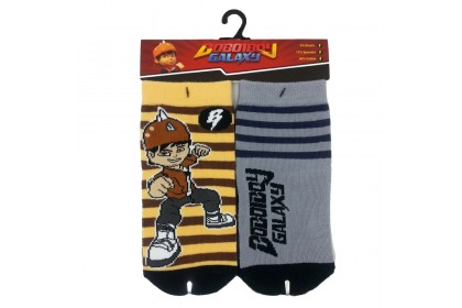 BOBOIBOY GALAXY 2 IN I SOCKS (SIZE : 15-16CM)